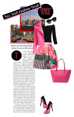 """Pack for NYFW!"" by leslee-dawn ❤ liked on Polyvore featuring Kate Spade, Mary Katrantzou, TAXI, Avenue, Whistles, Yves Saint Laurent, Belle + Sky, Bettie Page, women's clothing and women"
