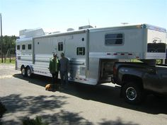 Congratulations to David and Ann Bishop of Clinton, SC on the purchase of their new 4-Star 3 Horse Slant with a 14' Outlaw Conversion Slide Out. 'Love those repeat customers. This is the 5th 4-Star Trailer they have purchased!' Thank you David and Ann  from LA Trailer Sales, LLC and 4-Star Trailers!  (800) 350-0358