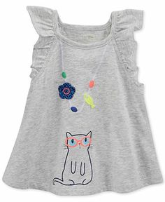 First Impressions Baby Girls' Cat Necklace Top - Kids Baby Girl (0-24 months) - Macy's
