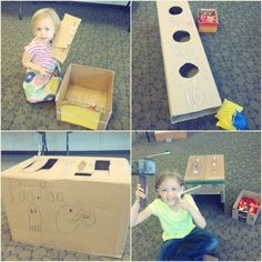 Caine's Arcade Cardboard Challenge via makeandtakes.com - this is great idea for rainy days! make stuff out of cardboard!