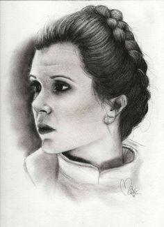 Original Sketch of Princess Leia