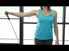 How to Work Out Your Shoulders With Rubber Rope : Workout Tips