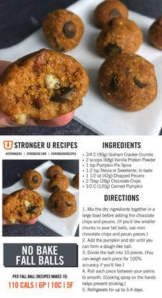 14 best high protein desserts images in 2019 Paleo Protein Powder, Protein Powder Recipes, Protein Bites, Protein Recipes, Healthy Recipes, Energy Bites, Veggie Recipes, Keto Recipes, Healthy Sweets