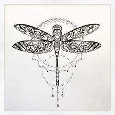 Image result for dragonfly mandala tattoo