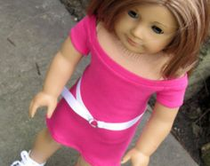18 Inch Doll Clothes, AG Doll Clothes, Trendy, Handmade  Boatneck Raglan Tee Shirt Dress