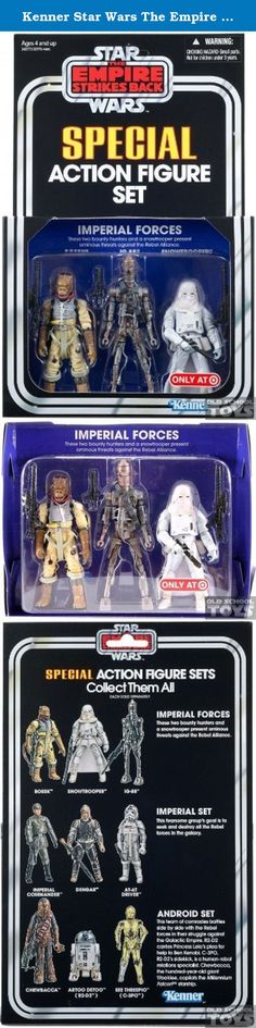 Kenner Star Wars The Empire Strikes Back Special Exclusive Action Figure 3Pack Imperial Forces Set Bossk, IG88, Snowtrooper. These two bounty hunters and a snowtrooper present ominous threats against the Rebel Alliance!.
