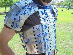 Inexpensive method to make banded armour. Will not count in many LARPs unless covered by leather as well.) Source by vialsofscience