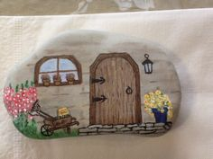 Rock painted cottage by H. Reardon