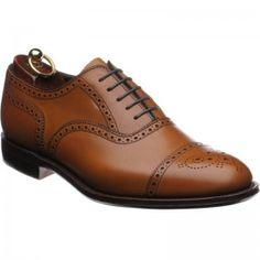 ad094517c74 Herring Hampstead semi-brogues in chestnut burnished calf
