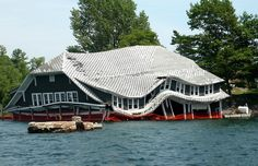 Ina Island Boathouse. St. Lawrence River