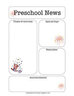 45 Best Preschool Newsletter Templates Images Newsletter Ideas