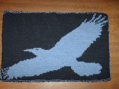 Ravelry: Flying raven chart pattern by corvus corone corone