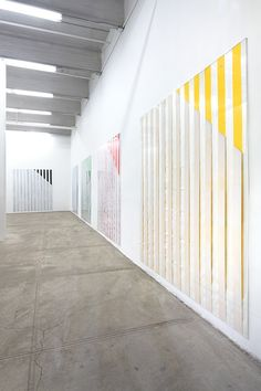 Daniel Buren at Bortolami and Petzel, New York Glass Installation, Art Installations, Daniel Buren, Geometric Form, Space Gallery, Color Stripes, Art Design, Amazing Art, Artists