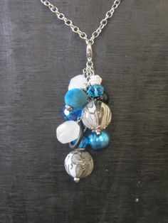 Interchangeable Necklace Charm Cluster 'Blue by MakeOverJewelry, $12.00