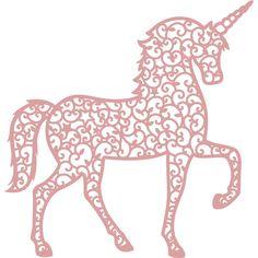 Intricut Unicorn Die 11.6 X 11.2 Cm   Hobbycraft