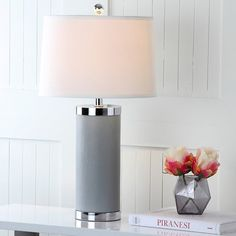 """Found it at AllModern - Leather Column 26"""" Table Lamp Set"""