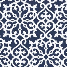 Derbyshire Damask Wallpaper in Navy from PoshTots