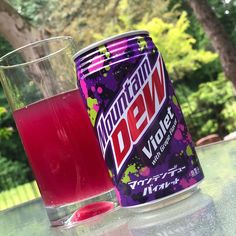 """Ready for an international soda flavor? Mountain Dew has brought its """"Violet With Grape Flavor"""" from Japan to the U. Nivea Lip Butter, Heath Food, Soda Drink, Buy Tea, Fruit Punch, Mountain Dew, New Flavour, Apple Watch Bands, Vintage Advertisements"""