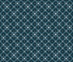 Mid Century Starburst Blue fabric by anderson_designs on Spoonflower - custom fabric