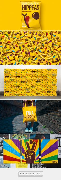 Packaging and branding for HIPPEAS Organic chickpea puffs by jones knowles ritchie (jkr) via The Dieline. PD