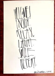 Typography Design, Lettering, David Carson, Online Art Gallery, Original Artwork, Prints, Graphics, Fotografia, Deko