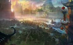 Epic and imaginative vistas by artist Li Shuxing.