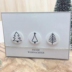 Weihnachtskarten basteln mit Stampin'up! Malerische Weihnachten, Frohe Weihnachten, Ideen, DIY, weiß