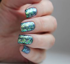 Glitter sequin nail design shared by @ex_kavalerovanails, more details shared in bornprettystore.com. #manicure
