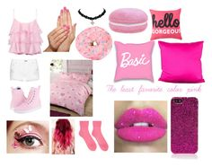 """""""My least favorite color pink"""" by anneamiejole ❤ liked on Polyvore featuring Pierre Balmain, Dr. Martens, Piggy Paint, Home Expressions, Society Social, Glitter Pink, Yves Saint Laurent, Comme des Garçons and rag & bone"""