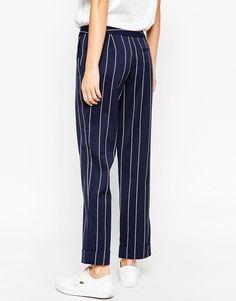 Image 2 of ASOS Straight Leg Trouser in Stripe co-ord