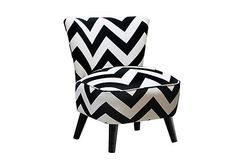 Barnes Chair, Black/White on OneKingsLane.com