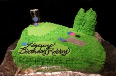Disc Golf Birthday Cake. Caleb Nelson this is for you!