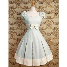 loving this dress for flower girl, but teal instead of baby blue. white tights, navy mary janes and bow in hair