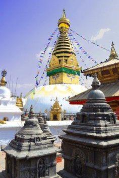 """Swayambunath (""""Monkey Temple"""") in Kathmandu, Nepal"""