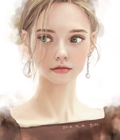 Digital Art Girl, Digital Portrait, Photo Portrait, Portrait Art, Character Portraits, Character Art, Jolie Photo, Fantasy Girl, Anime Art Girl