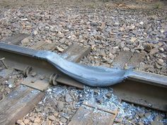 """This is what happens when a train does a """"burnout."""" The brakes are applied but the engine didn't get the signal."""
