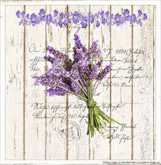 Lovely bunch of Lavender Vintage Diy, Decoupage Vintage, Vintage Labels, Vintage Paper, Vintage Postcards, Vintage Images, Scrapbooking, Scrapbook Paper, Mod Podge Crafts
