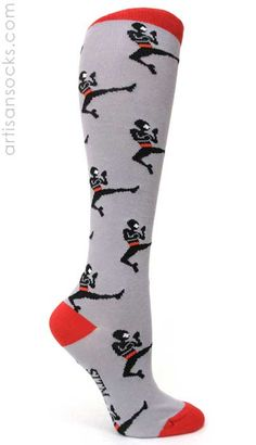 Ninja Knee High Socks - Grey  WANT