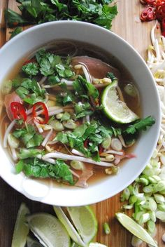 Pho - always delicious, and especially great for those days when broth can soothe a sick person to health again :)