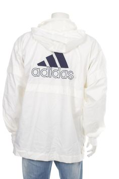 a7d89e8d8d Vintage 90  Adidas Windbreaker Jacket Big logo Spell out Black Size M