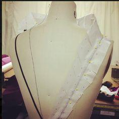 New design working on the neckline.
