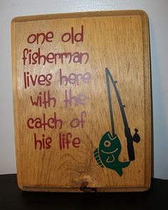 Vinyl: Fishing  One old (or fine)  fisherman  lives here  with the  catch of  his life @VinylExpressions