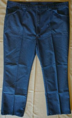 Mens Comfort Action Sports Blue Jeans 48 x 32 #comfortactionsports #Relaxed