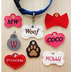 In The Hoop :: Pets :: Pet Tags - Embroidery Garden In the Hoop Machine Embroidery Designs