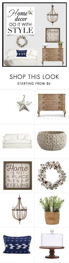 """HomeDecor."" by doragutierrez ❤ liked on Polyvore featuring interior, interiors, interior design, home, home decor, interior decorating, Oskar the Label, CB2, Home Decorators Collection and NOVICA"