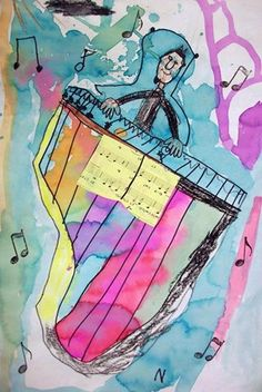 """Piano Time"" by 2nd grade Artsonia Art Museum :: Artwork by Skhori1"