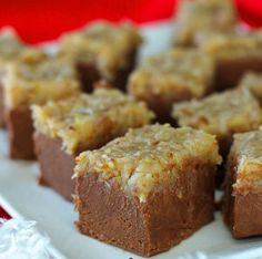 German Chocolate Fudge - Now entering chocolate heaven!  Gotta try this recipe!