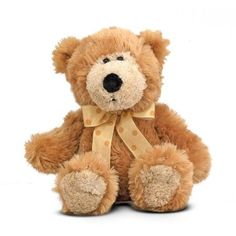 Melissa & Doug Baby Ferguson Teddy Bear Stuffed Animal Caramel-colored teddy bear Features super-soft plush, multiple textures and a polka-dot bow. Weighted bottom Durably constructed with top-quality plush and fill Surface washable Baby Play, Baby Toys, Newborn Toys, Beanie Boos, Plush Animals, Stuffed Animals, Peter Rabbit, Peppa Pig