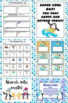 Penguin Theme Back to School Mega Pack - Get ready to for a cool year with this penguin theme pack! This pack will help you with all aspects of starting your school year with printable room decor, open house activities, first week activities, and much more! $