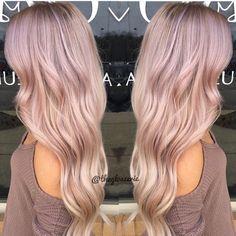 Blush balayage by April #pinkhair #blushhair #blondehair #longhair